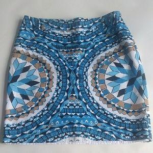🎈Kenar Mosaic A line Mini Skirt Blue